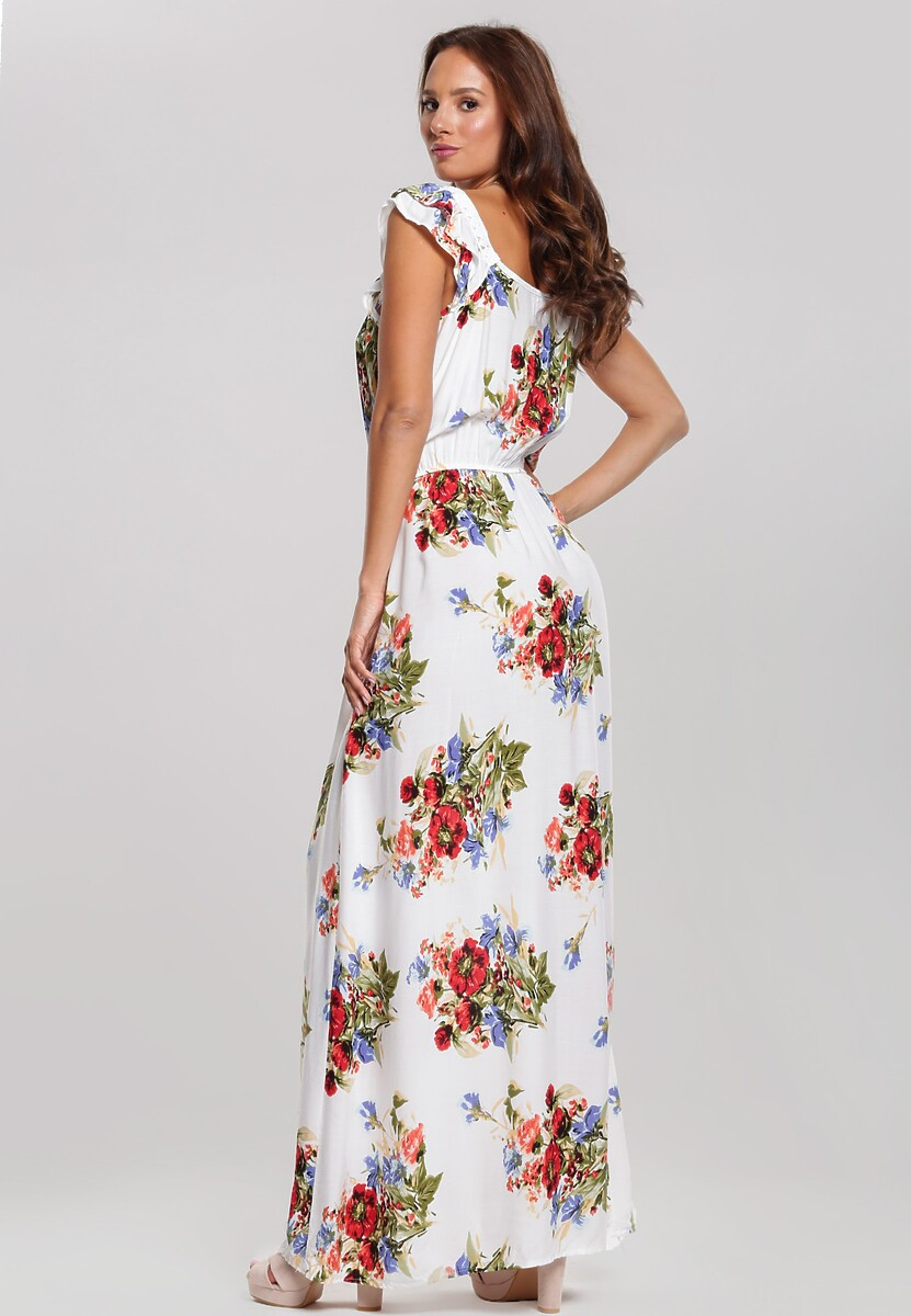 Biała Sukienka Caustic