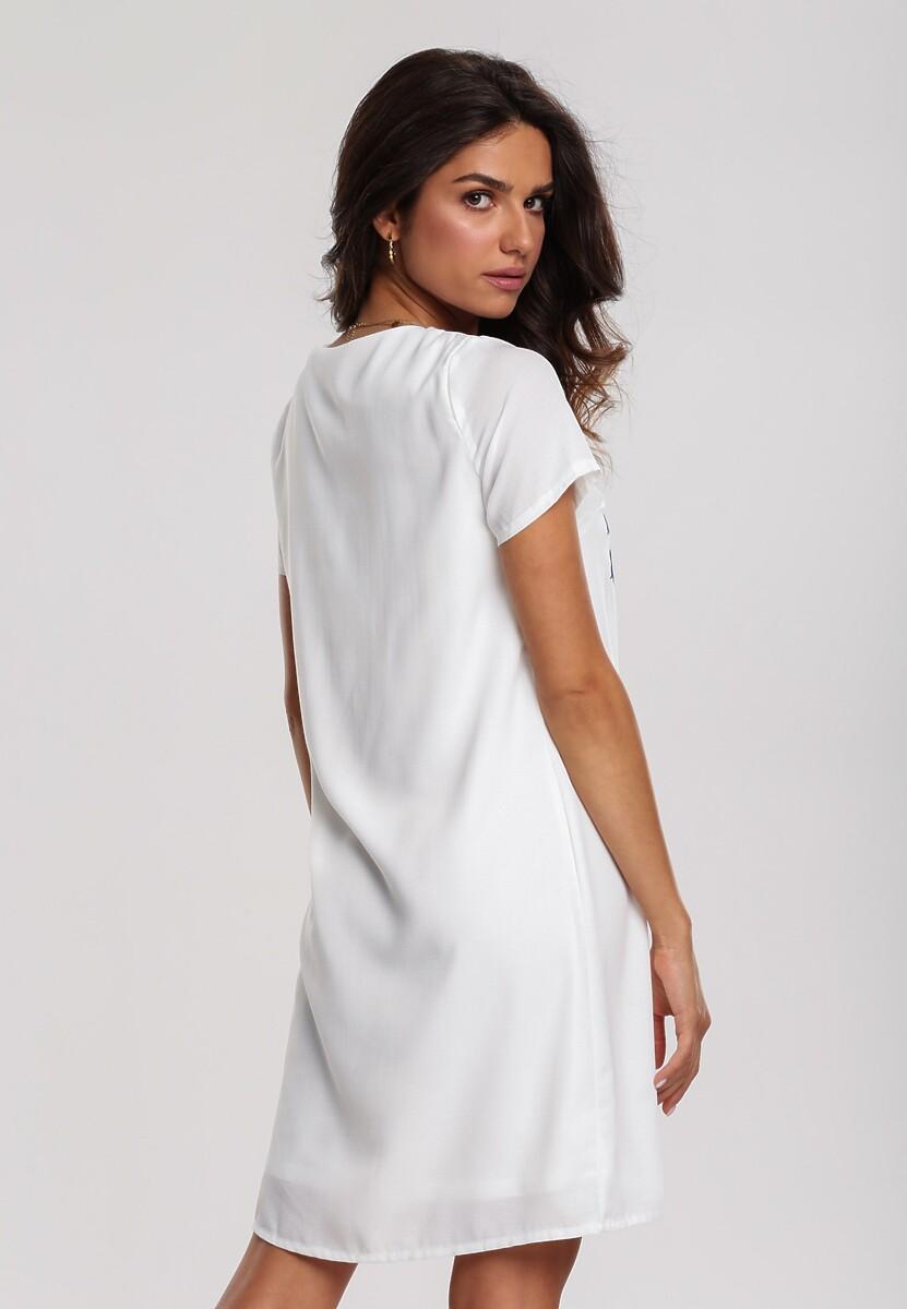 Biała Sukienka Plant Vine