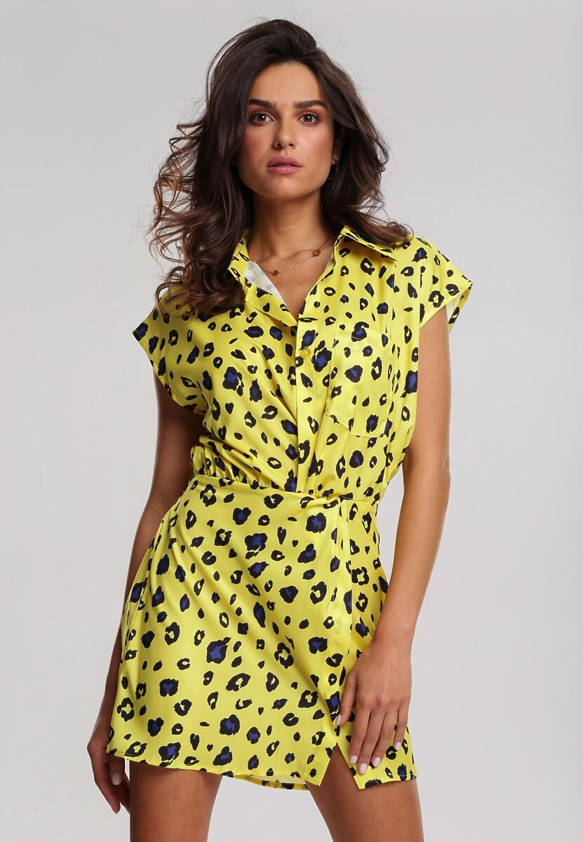 Żółta Sukienka Creeper