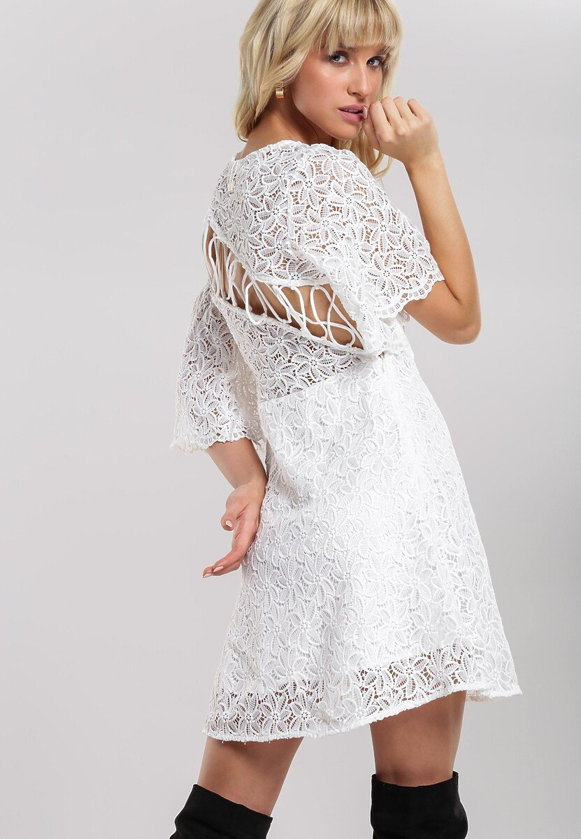 Biała Sukienka Amber Coating