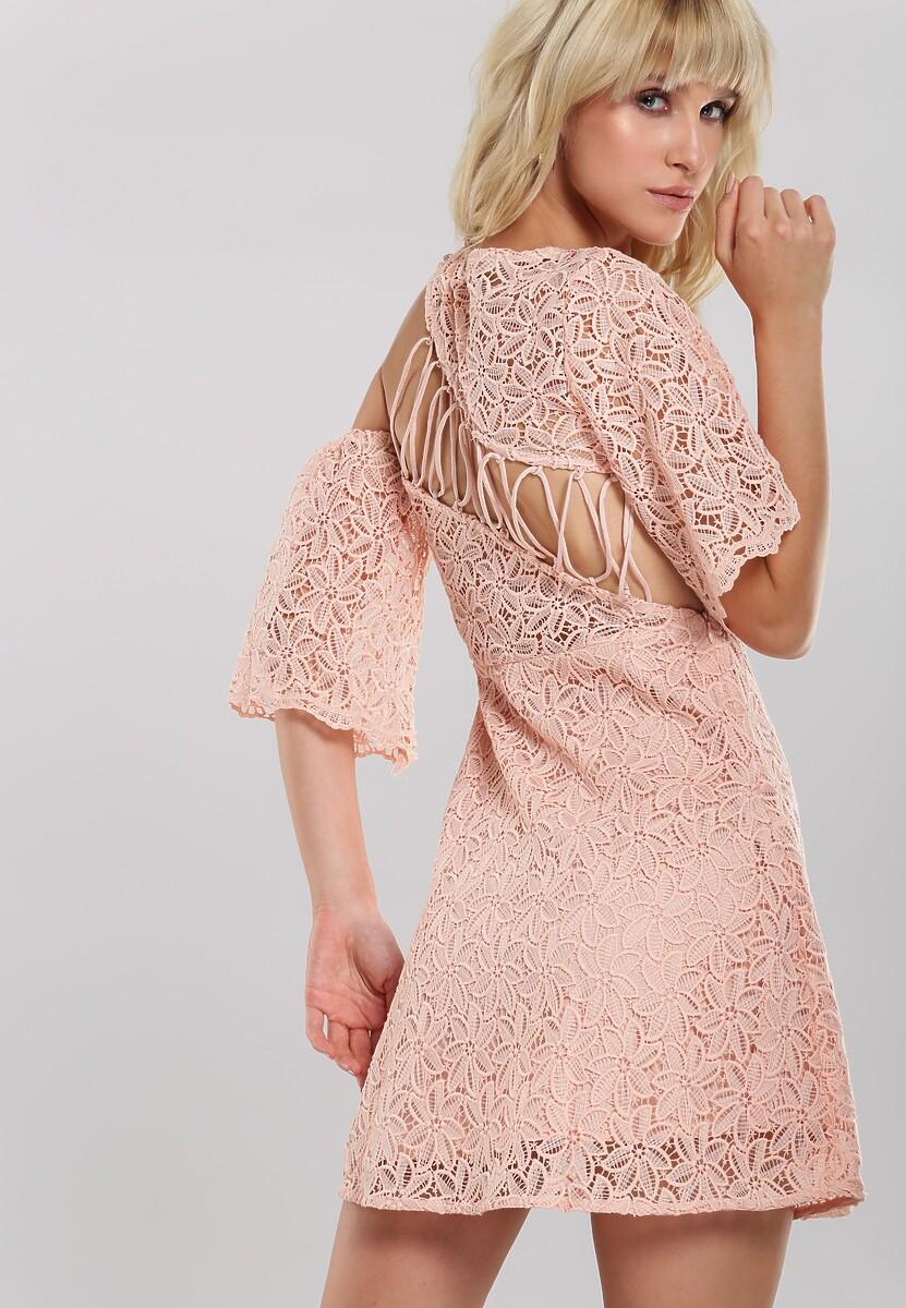 Jasnobeżowa Sukienka Amber Coating
