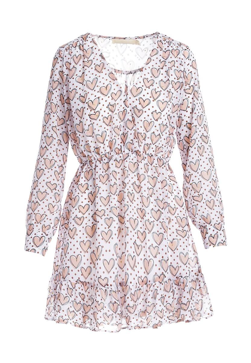 Biała Sukienka Hawk Shadow