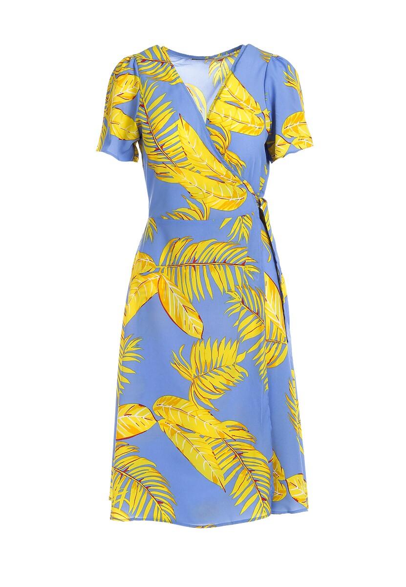 Niebiesko-Żółta Sukienka Glass Crow
