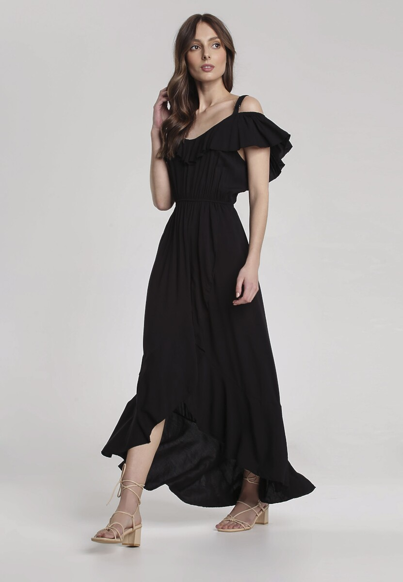 Czarna Sukienka Chelgana