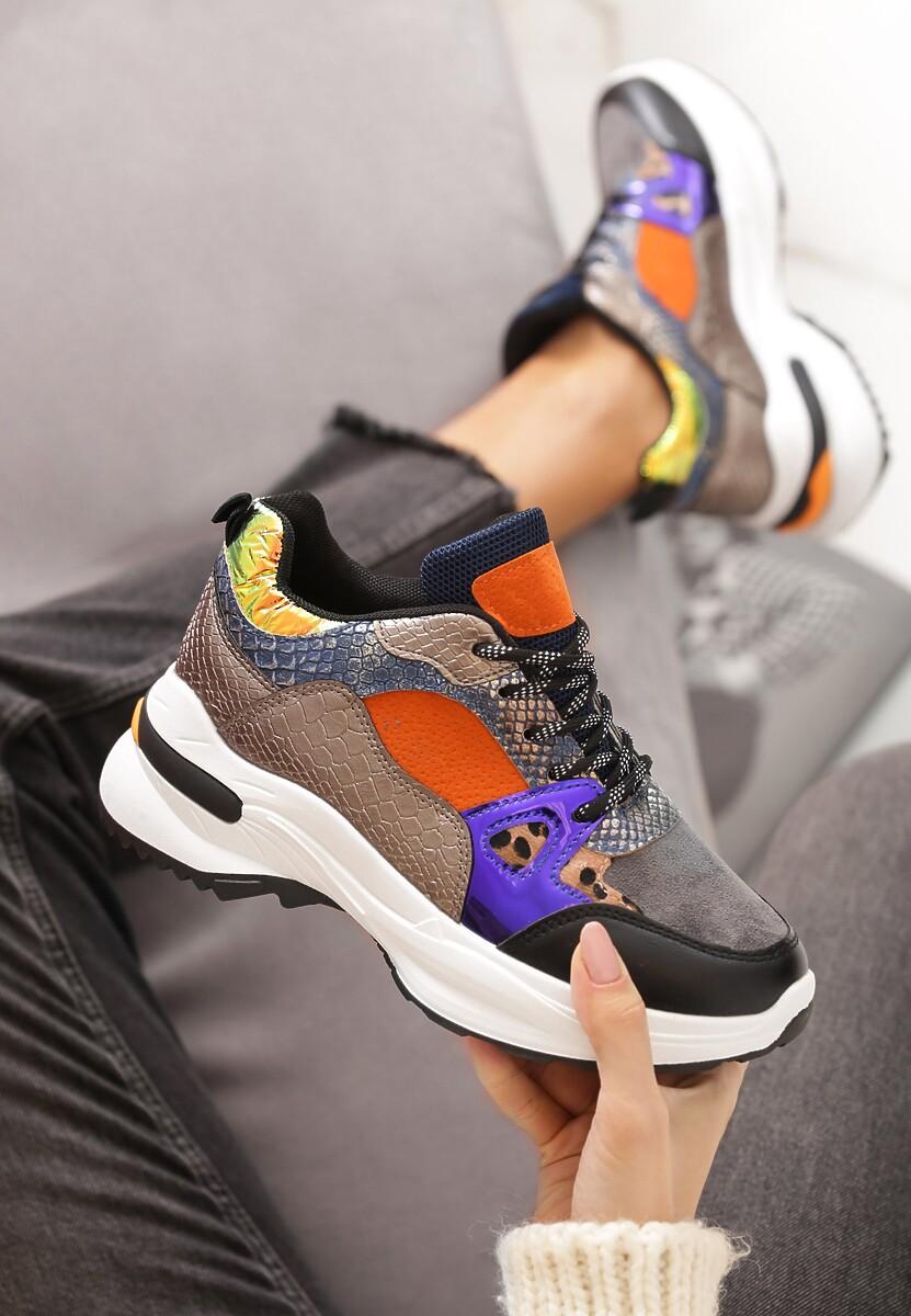 Szare Sneakersy Boron