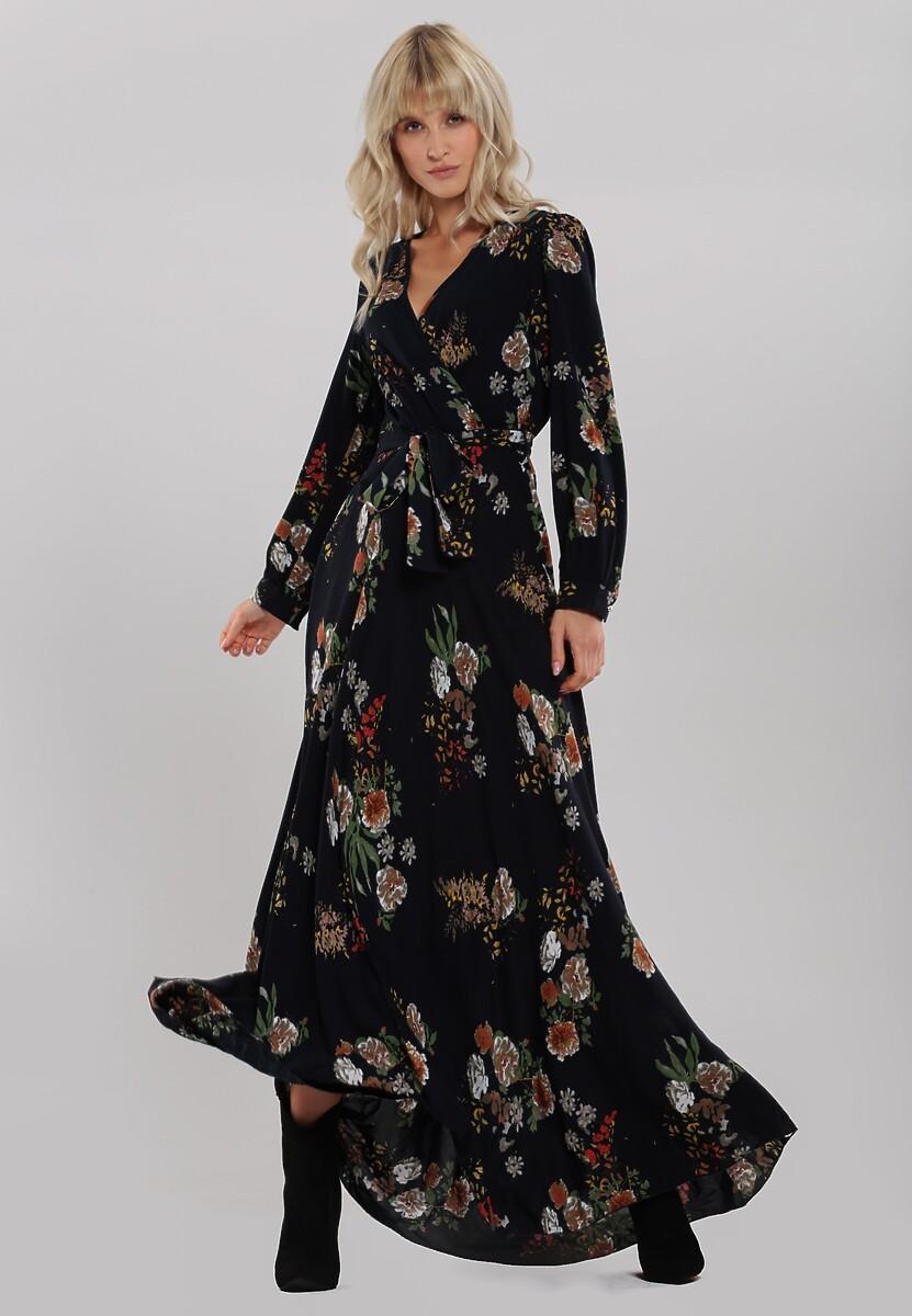 Granatowa Sukienka Barlanark