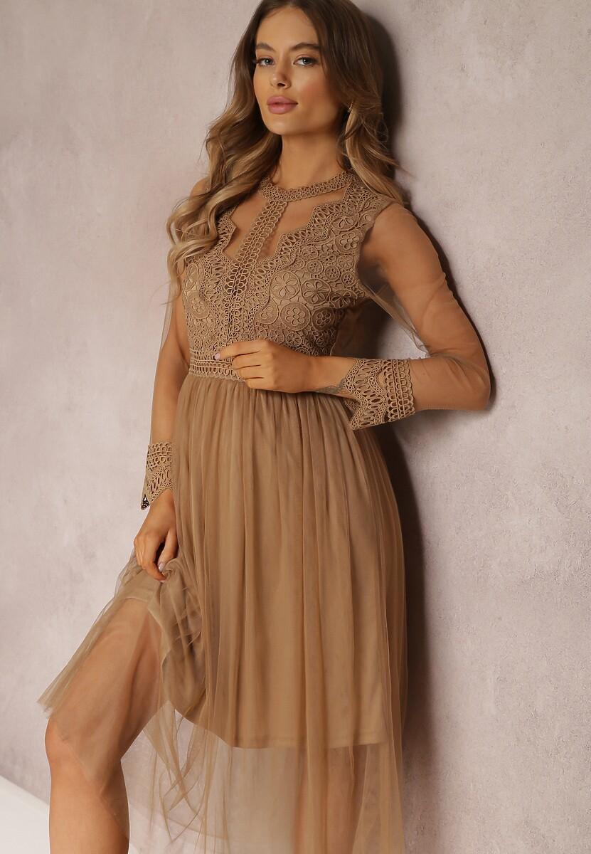 Ciemnobeżowa Sukienka Lylah