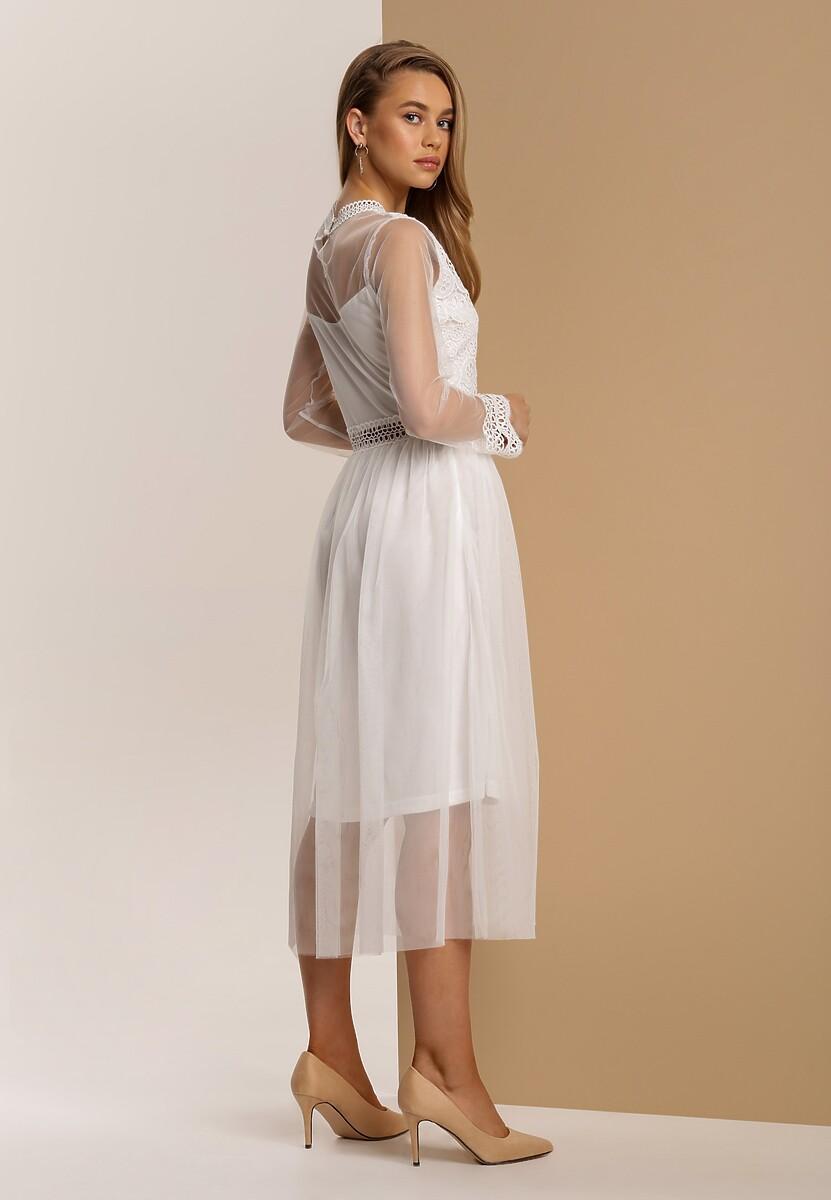 Biała Sukienka Lylah