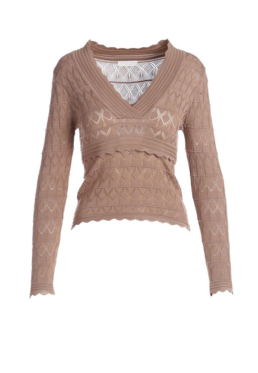 Ciemnobeżowy Sweter Malaya
