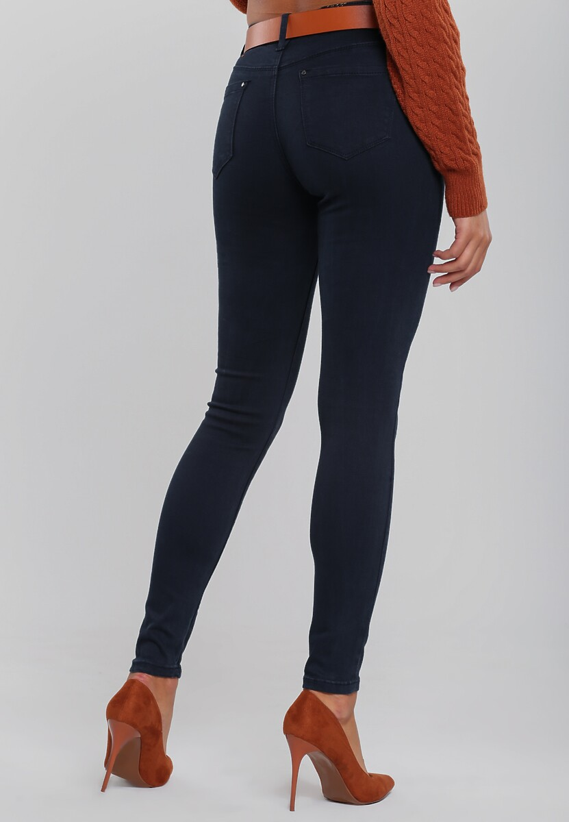 Granatowe Spodnie Dalary