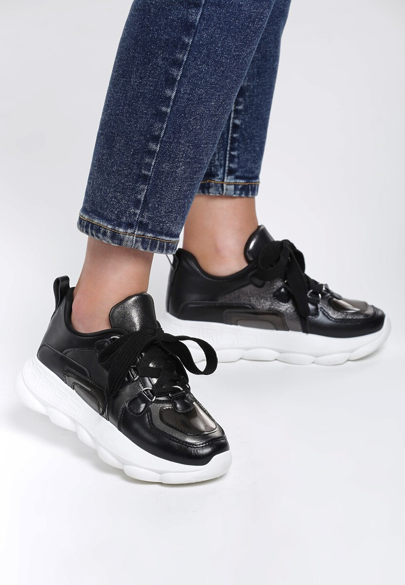 Czarne Sneakersy Lady's Mantle