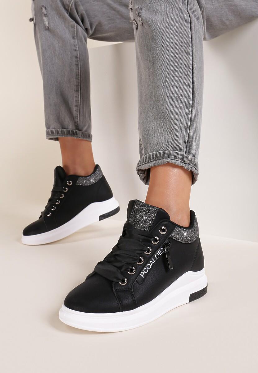Czarne Sneakersy Alina
