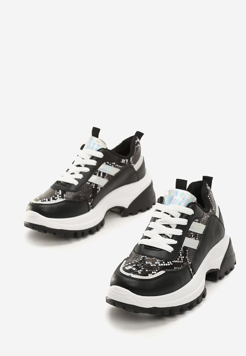 Czarne Sneakersy Aliyah