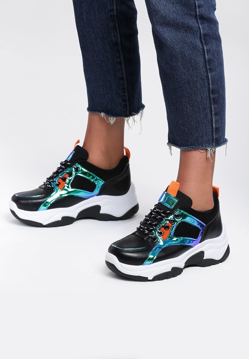 Czarne Sneakersy Tuberose