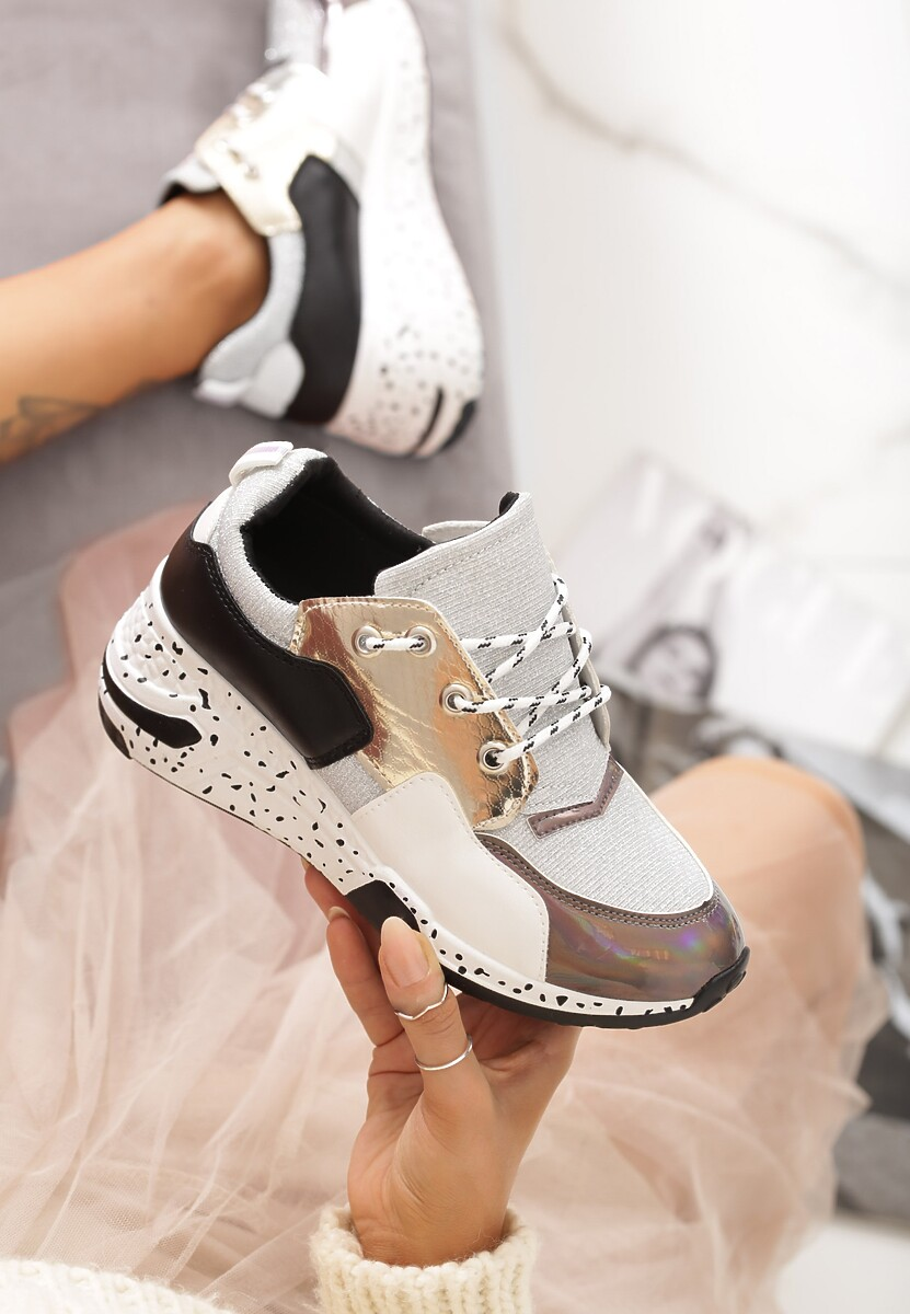 Srebrne Sneakersy Elise