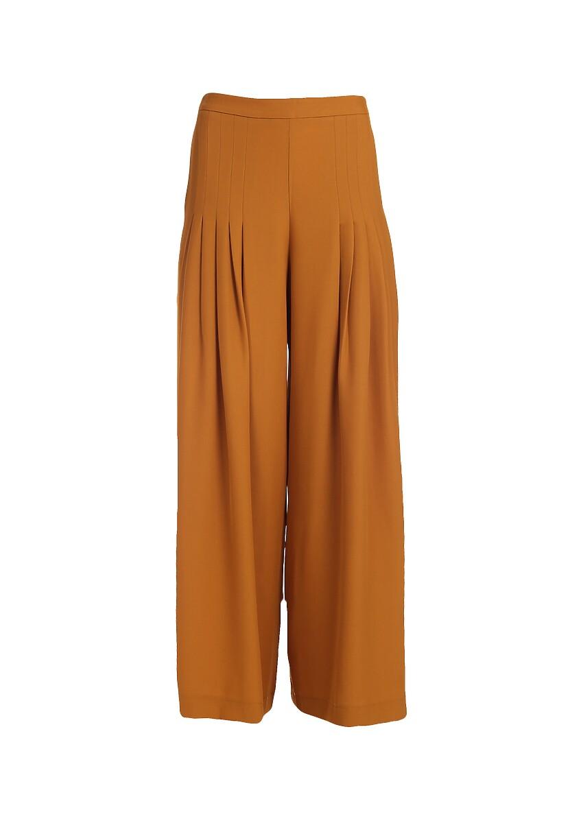 Camelowe Spodnie Linseed