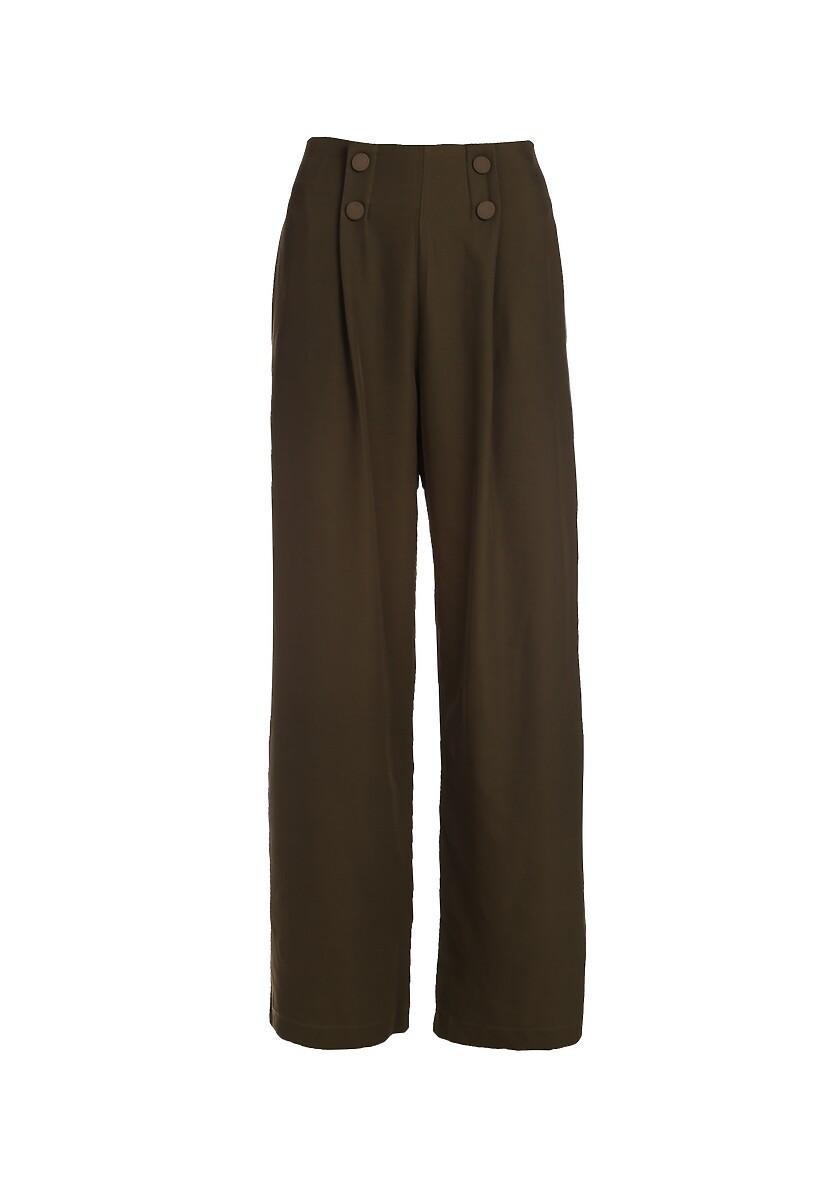 Ciemnozielone Spodnie Euphoris