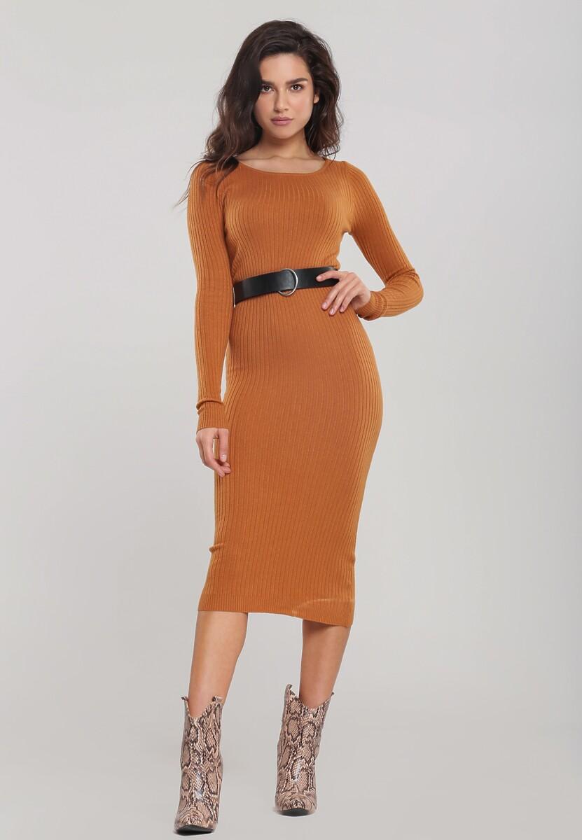Camelowa Sukienka Alexandria