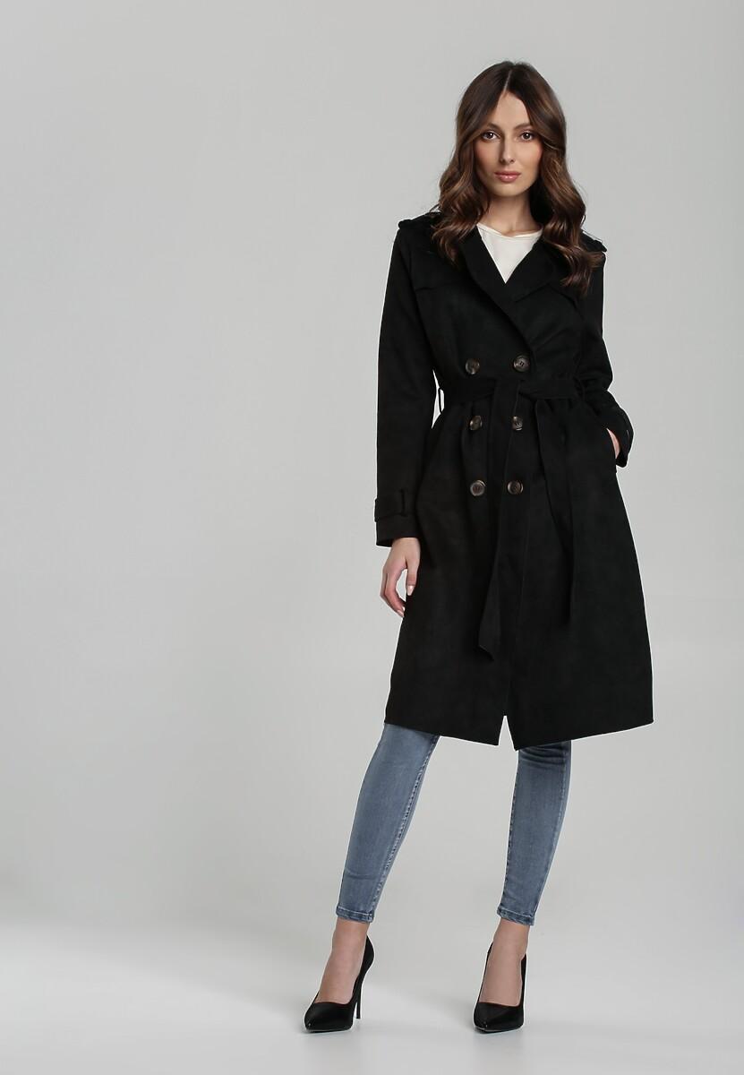 Czarny Płaszcz Rosa