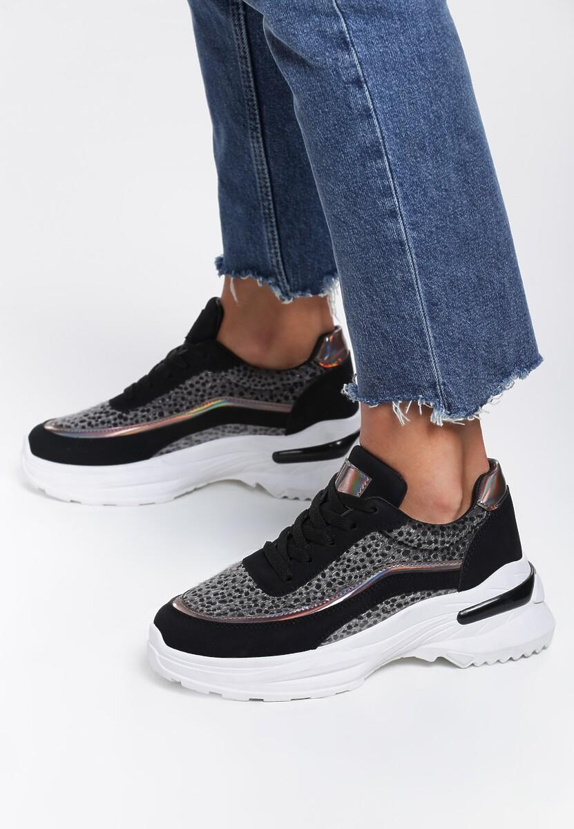 Czarne Sneakersy Aviana