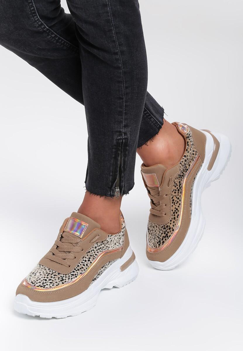 Camelowe Sneakersy Aviana