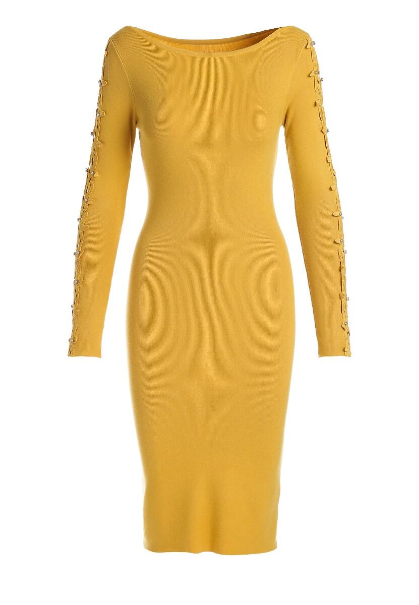 Żółta Sukienka Odette