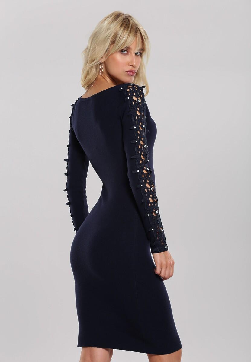 Granatowa Sukienka Odette