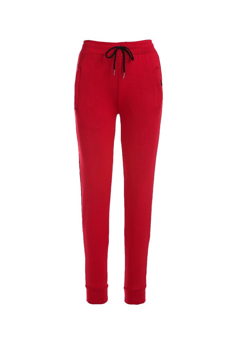 Czerwone Spodnie Cat Eye