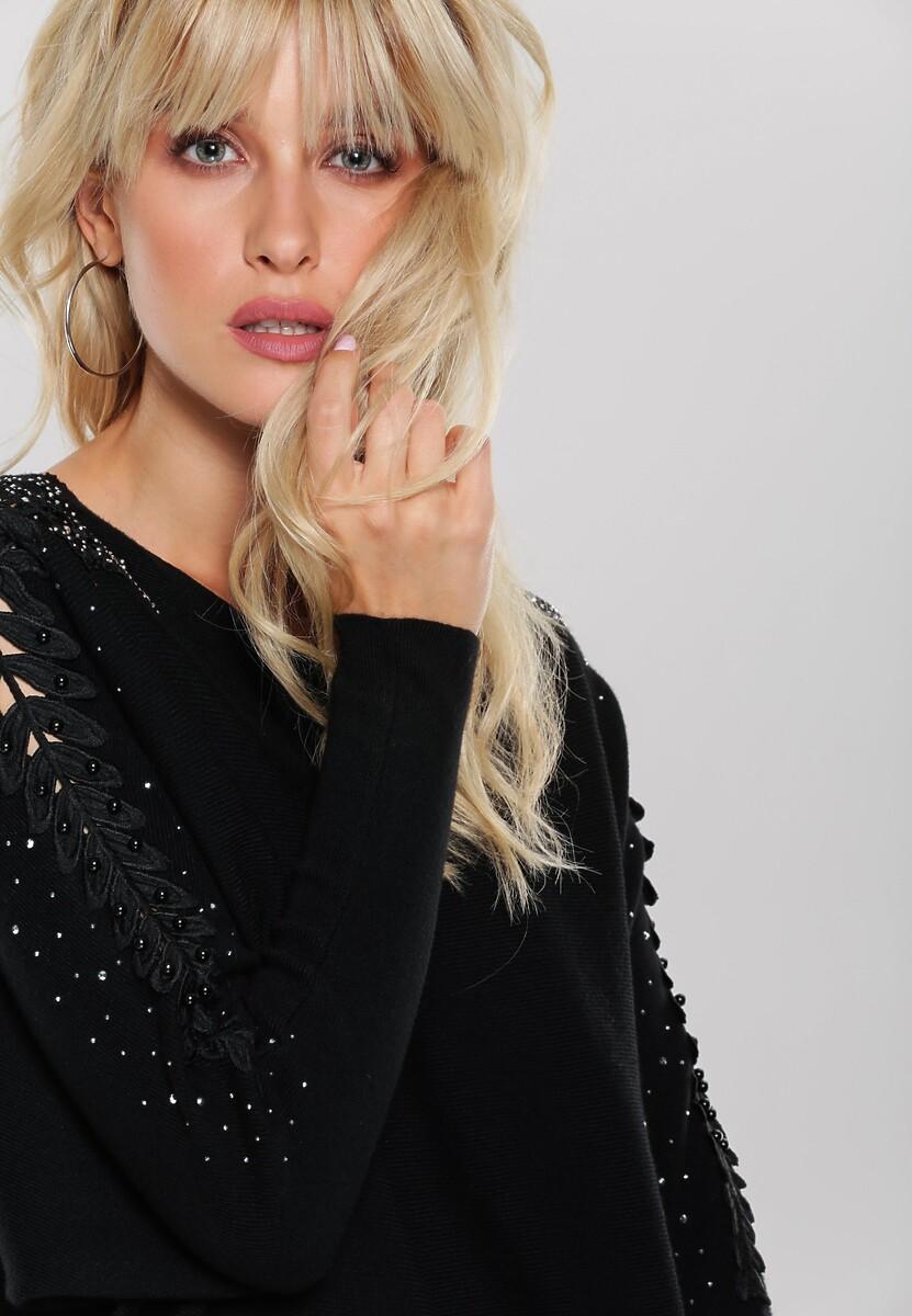 Czarny Sweter Lina
