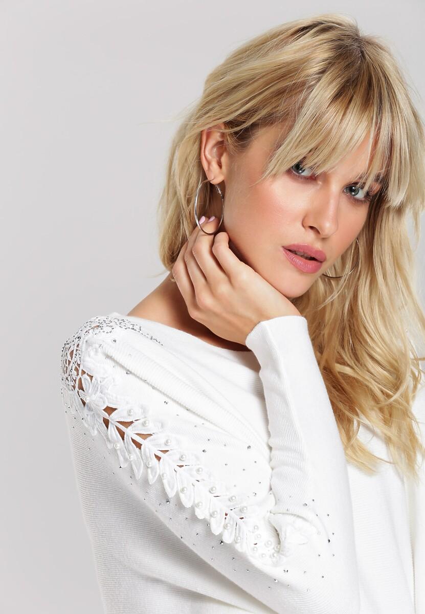 Biały Sweter Lina