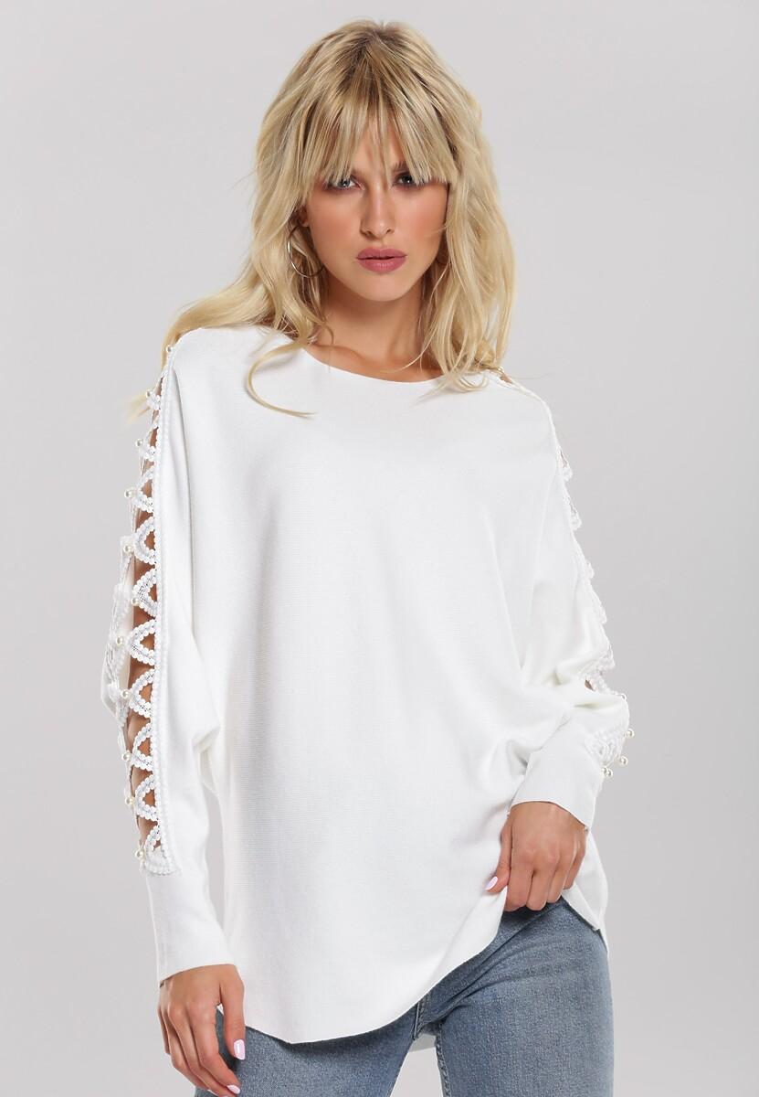 Biały Sweter Olympia
