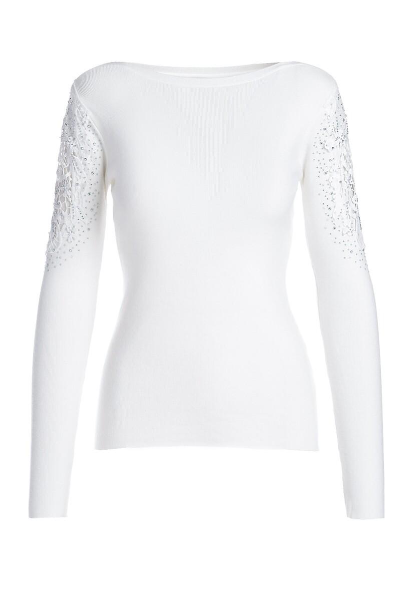 Biały Sweter Rosamund