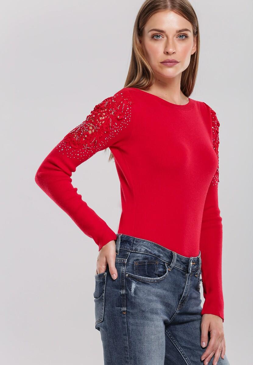 Czerwony Sweter Rosamund