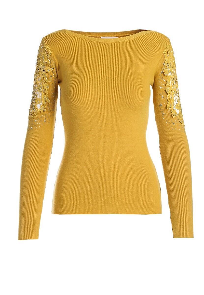 Żółty Sweter Rosamund