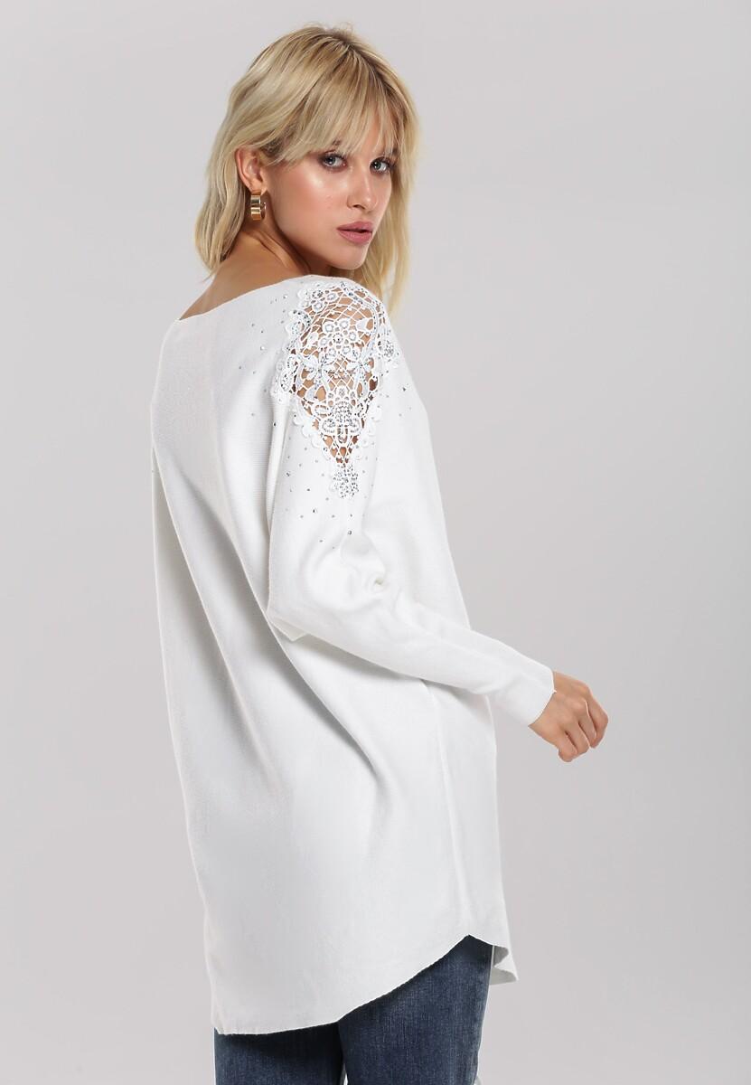 Biały Sweter Holland