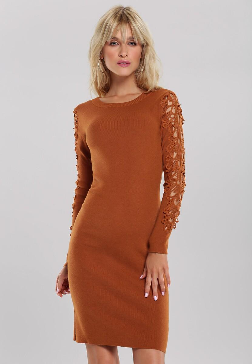 Brązowa Sukienka Oriana