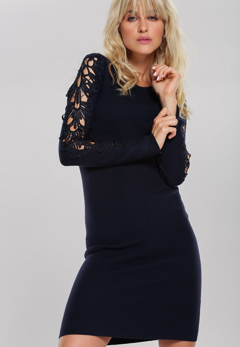 Granatowa Sukienka Oriana