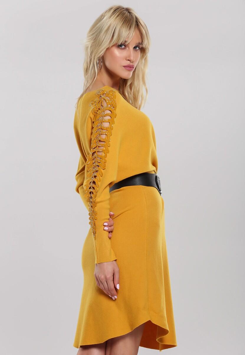 Żółta Sukienka Glossy Lips