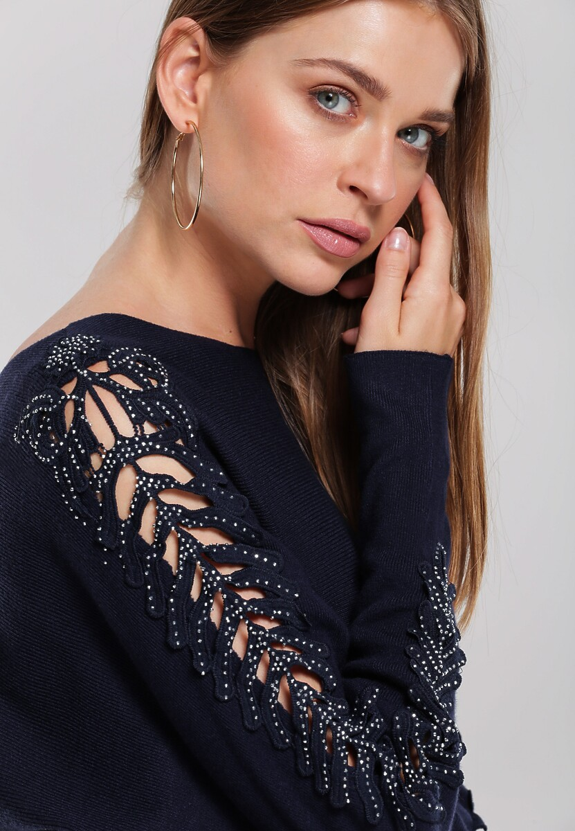 Granatowa Sukienka Glossy Lips
