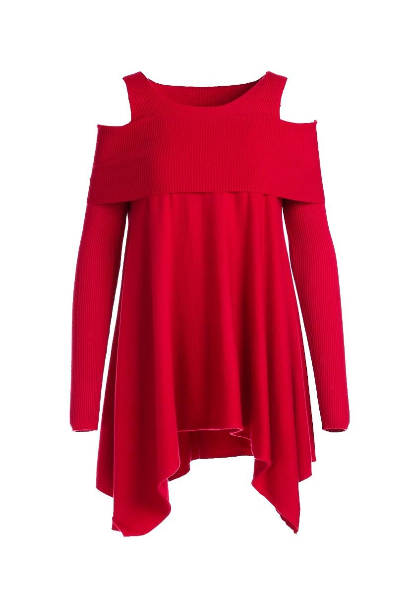 Czerwony Sweter Janiyah