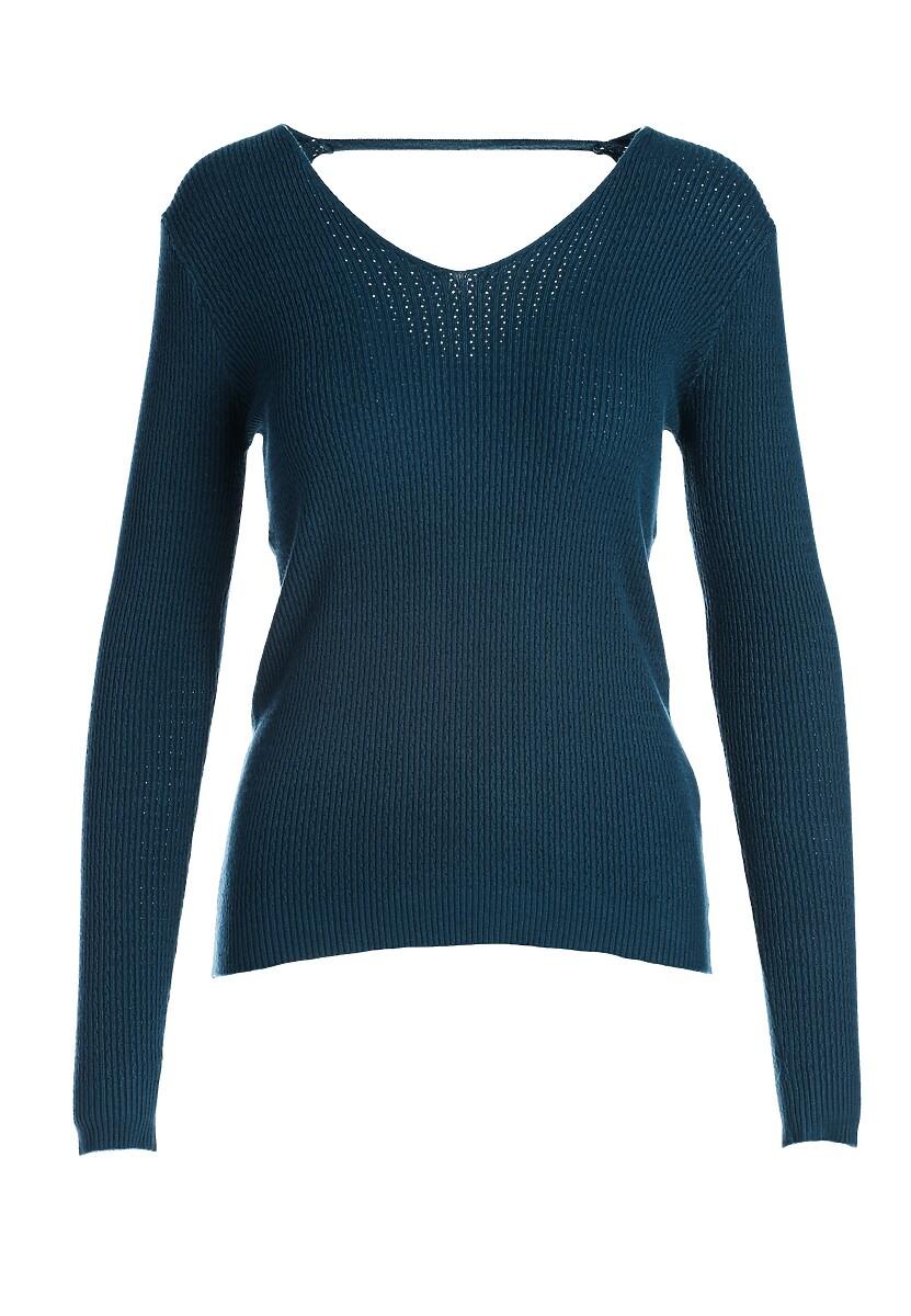 Ciemnoniebieski Sweter Hallie