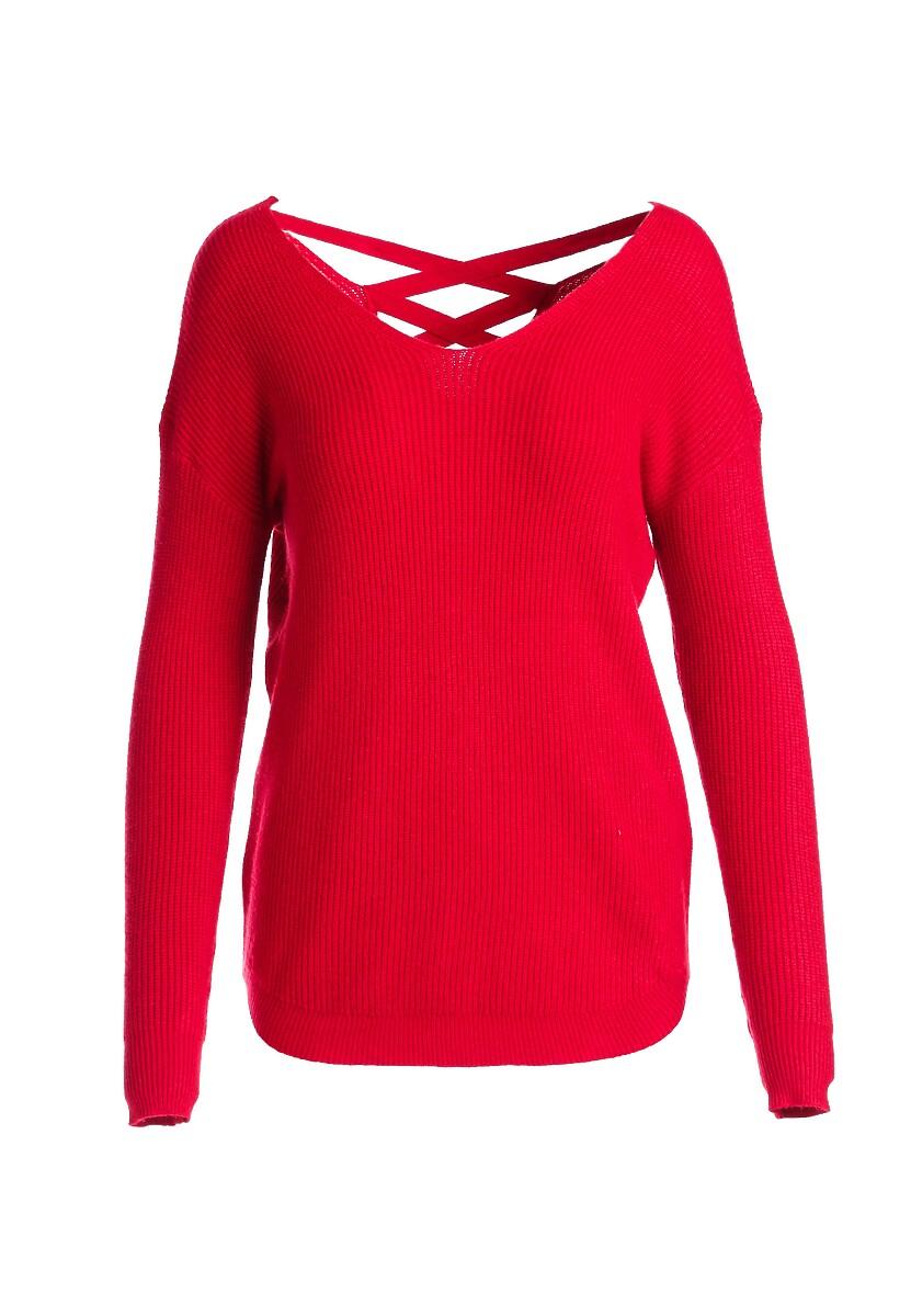 Czerwony Sweter Kimber