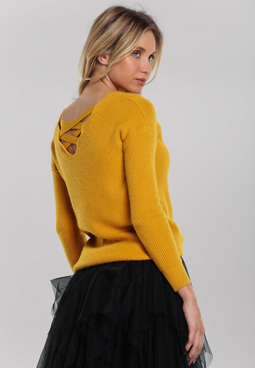 Żółty Sweter Kimber