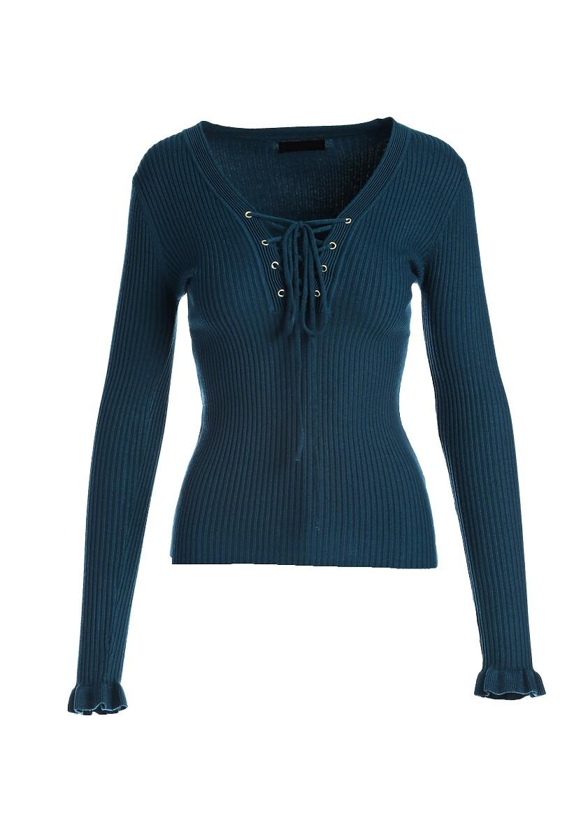 Ciemnoniebieski Sweter Colette
