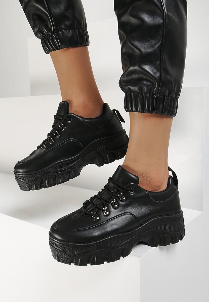 Czarne Sneakersy Mariam