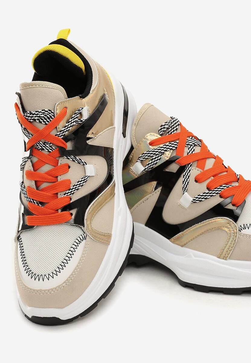 Beżowe Sneakersy Braelyn