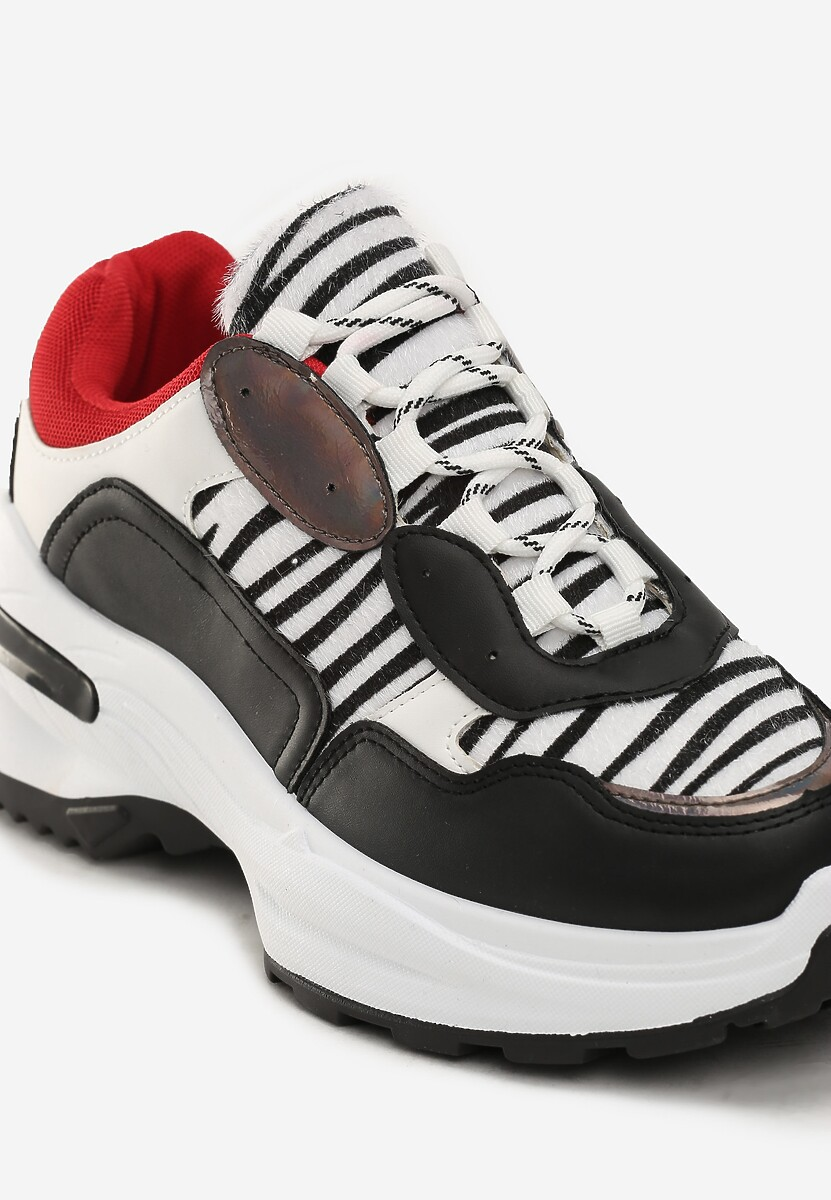 Czarno-Białe Sneakersy Ivanna
