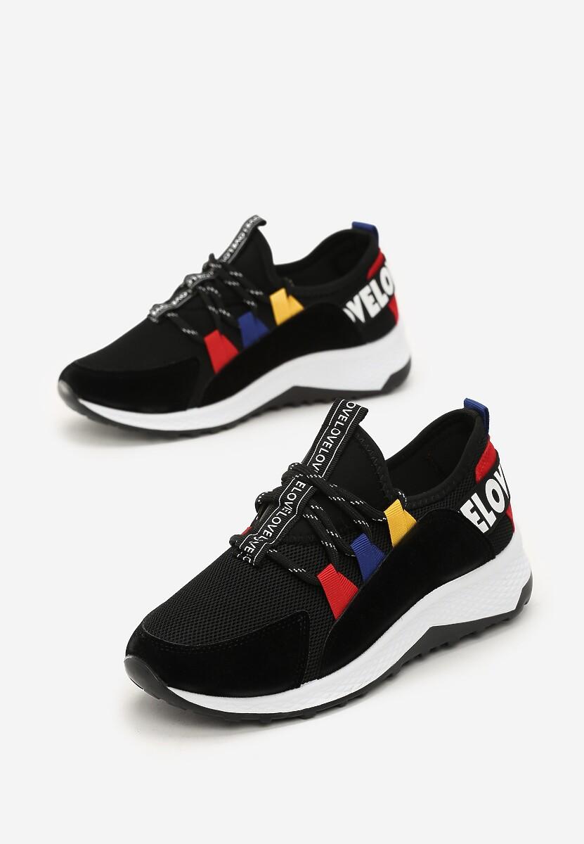 Czarne Sneakersy Marie
