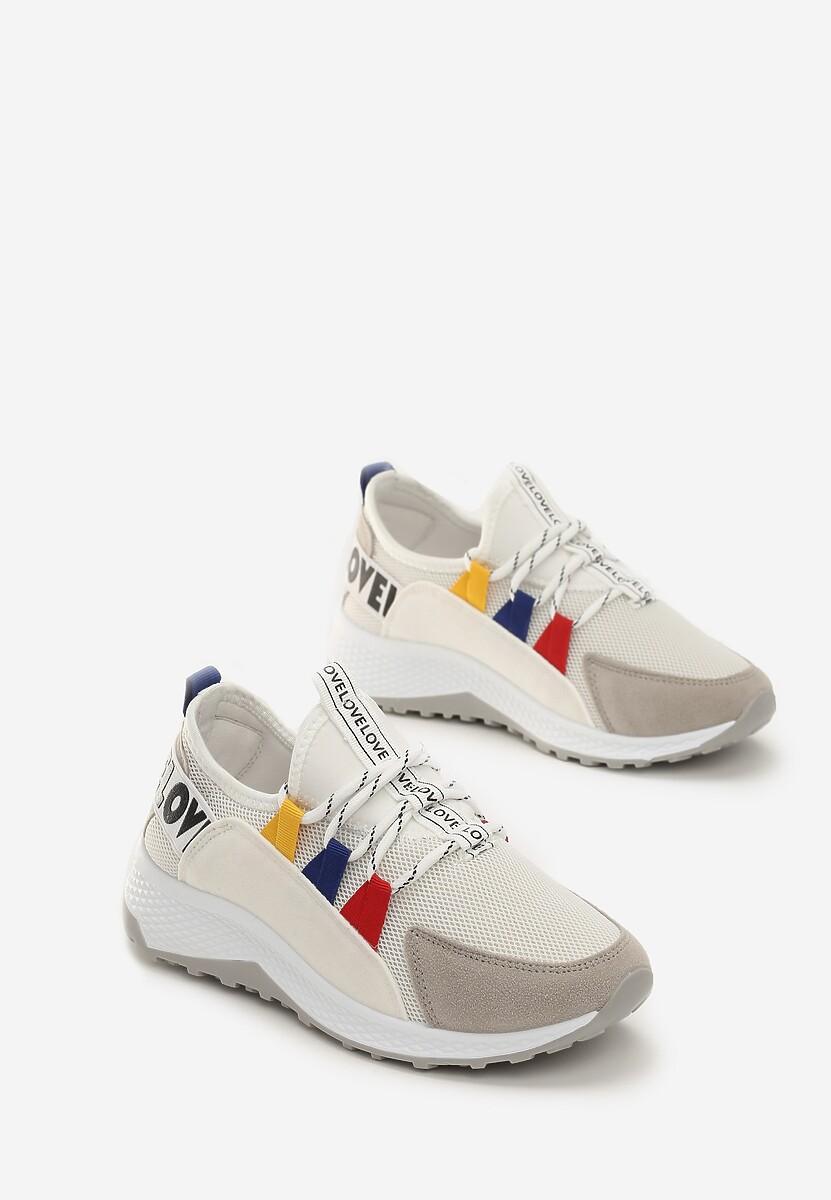 Biało-Szare Sneakersy Marie