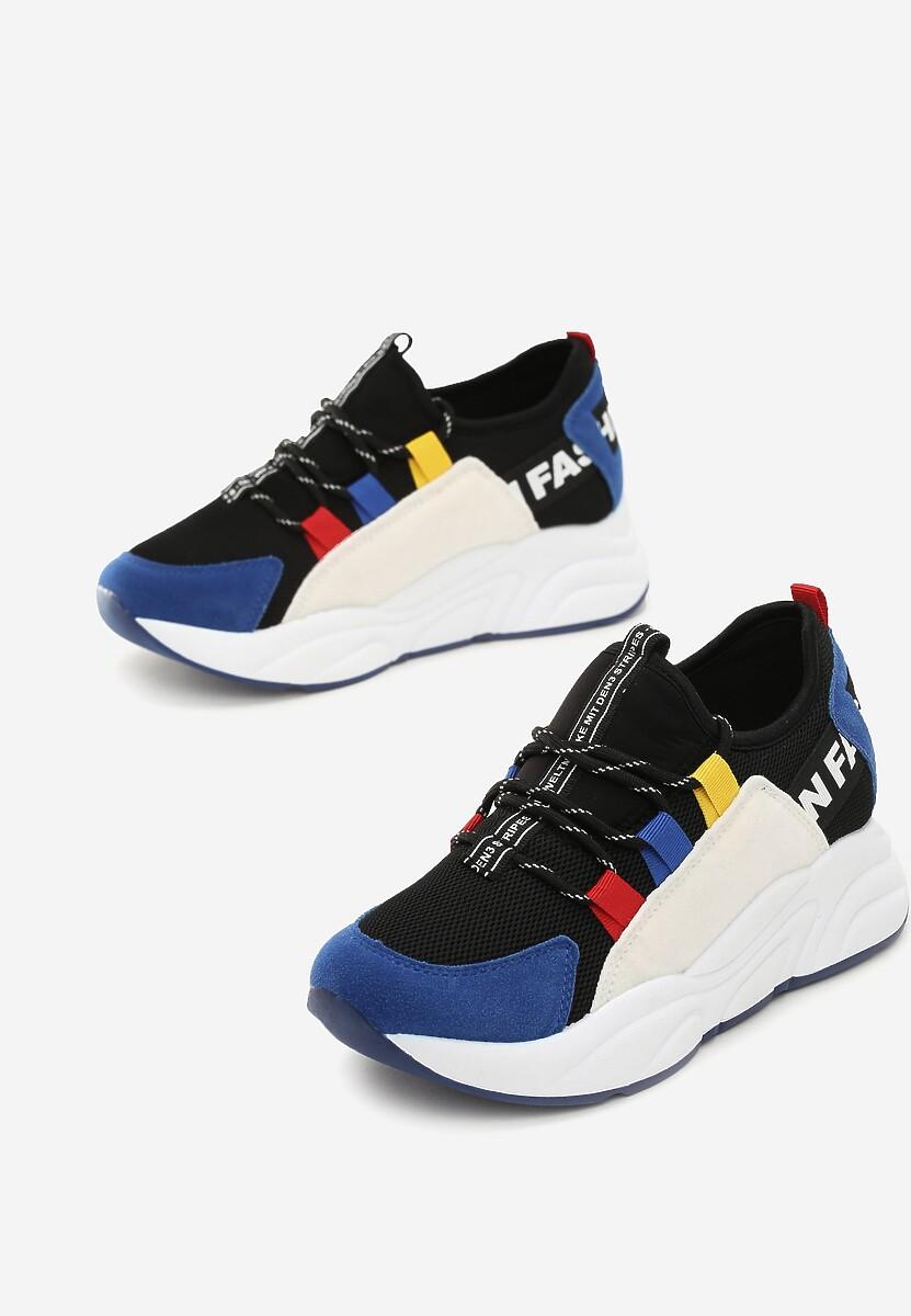 Czarno-Niebieskie Sneakersy Alaia